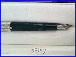 Montblanc Meisterstuck Solitaire Doue Sterling Silver Fountain Pen Barley M 146