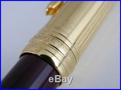Montblanc Meisterstuck Solitaire Doue Vermeil and Bordeaux Ballpoint Pen (used)