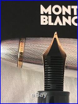 Montblanc Meisterstuck Solitaire LeGrand 146, Sterling Silver 18k nib