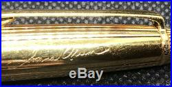 Montblanc Meisterstuck Solitaire Sterling Silver 925 Vintage Pen Gold Engraved