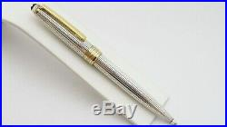Montblanc Meisterstuck Solitaire Sterling Silver Ballpoint Pen Penna A Sfera