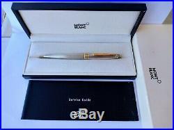 Montblanc Meisterstuck Solitaire Sterling Silver Barley Ballpoint Pen, Full Set