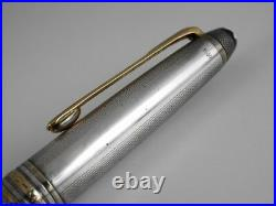 Montblanc Meisterstuck Solitaire Sterling Silver Barley Ballpoint Pen (used)