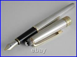 Montblanc Meisterstuck Solitaire Sterling Silver Fountain Pen F TIFFANY & CO