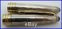 Montblanc Meisterstuck Solitaire Sterling Silver Fountain Pen & Fineliner Set