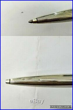 Montblanc Meisterstuck Solitaire Sterling Silver Pinstripe Ballpoint Pen