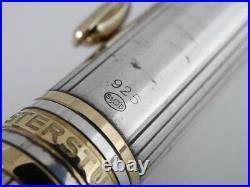Montblanc Meisterstuck Solitaire Sterling Silver Pinstripe Ballpoint Pen F/S