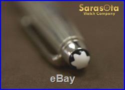 Montblanc Meisterstuck Sterling Silver 925 Cap Black Ink Ballpoint Pen