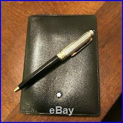 Montblanc Meisterstuck Sterling Silver (925) Mini Pen & Credit Card Wallet Set