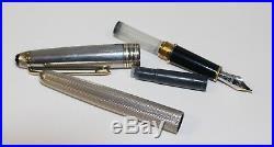 Montblanc Meisterstuck Sterling Silver Fountain Pen M 14K NIB 4810
