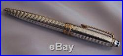 Montblanc Meisterstuck Sterling Silver Solitaire Ballpoint Pinstripe, Engraved