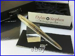 Montblanc Meisterstuck solitaire 146 legrand sterling silver fountain pen NEW