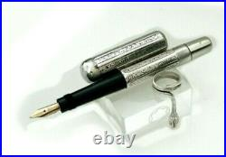 Montblanc N1 Sterling Silver Safety Fountain Pen Serpent Clip 1923
