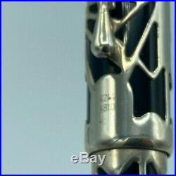 Montblanc OCTAVIAN 4810 Fountain Pen Sterling Silver Year 1993 Near Mint