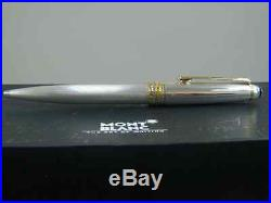 Montblanc Solitaire 164s Sterling Silver Barley & Gold Ballpoint Pen New In Box