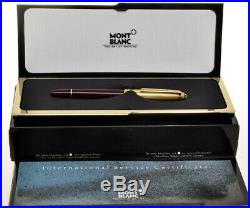 Montblanc Sterling Silver Gilt (vermeil) Solitaire Doue roller pen new in box