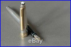 Montblanc Sterling Silver Meisterstuck Fountain Pen