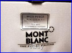 Montblanc Sterling Silver Meisterstuck Fountain Pen 4810 18K Gold Solitaire