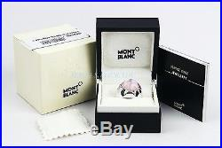 Montblanc Sterling Silver Star Grande Dame Ring Pink Quartz New Sz 58