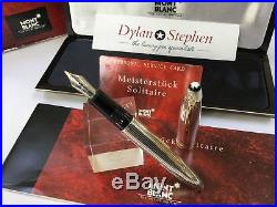 Montblanc meisterstuck legrand 146 solitaire sterling silver fountain pen + box