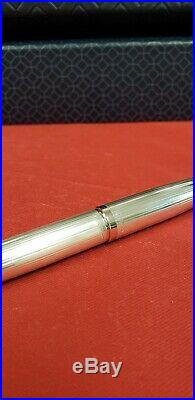 Montegrappa 300 Sterling Silver Fountain Pen With 18k Solid Gold M Bnib