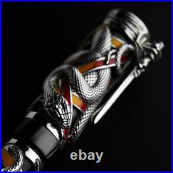 Montegrappa CHAOS Sterling Silver Limited Edition Fountain Pen EF 18kt nib MIB