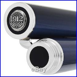 Montegrappa Espressione Sterling Silver Blue Broad Fountain Pen ISNPC5AB