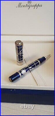 Montegrappa Euro 2002 Sterling Silver Ballpoint Pen in Box