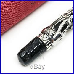 Montegrappa L. E Oriental Zodiac Dog Sterling Silver 18K nib Fountain Pen