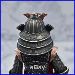 Montegrappa Limited Edition 177 Samurai Figure Sterling Silver Fountain Pen
