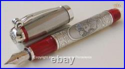 Montegrappa Limited Edition L A Traviata Solid Silver Fountain Pen Superb Design