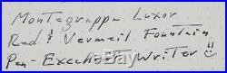 Montegrappa Luxor Red Sea Vermeil Limited Edition Fountain Pen 1996 Unused