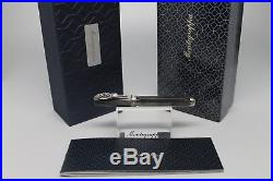 Montegrappa Micra Pearl Grey Resin Warrior Rollerball Pen Sterling Silver