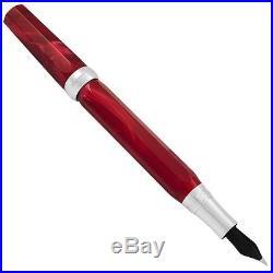 Montegrappa Micra Sterling Silver Red Medium Fountain Pen Ismcr3ar