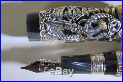 Montegrappa Pirates Sterling Silver Fountain Pen M Nib Limited Edition Piston