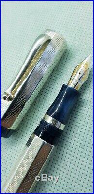 Montegrappa Privilege Deco Sterling Silver Fountain Pen