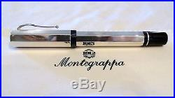 Montegrappa Privilege Sterling Silver 925 Fountain Pen With 18k Nib New In Box