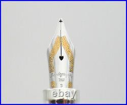 Montegrappa Reminiscence Sterling Silver Fountain Pen 18k Broad Nib