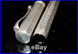 Montegrappa Reminiscence sterling silver fountain pen OB nib excl. Cond. 47/8in