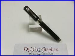Montegrappa Symphony green celluloid and sterling silver fountain pen