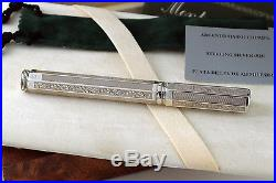 Montegrappa Two Roses York 925 Sterling Silver Fountain Pen RARE