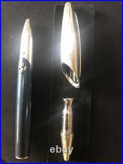 Montegrappa for Ferrari M. Blue & Sterling Silver Roller ball Pen Ltd Edn