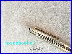 NEW Authentic Montblanc Meisterstuck Sterling Silver Pinstripe BallPoint Pen