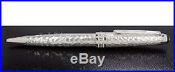 NEW Mont Blanc Meisterstuck Martele Sterling Silver Midsize Ballpoint Pen 115099