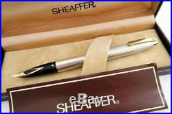 NEW OLD STOCK STERLING SILVER SHEAFFER IMPERIAL 826 FOUNTAIN PEN, 1970's BOXED