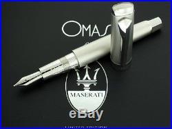 NEW Omas for Maserati 925 Sterling Silver LE 18K B NIB Fountain Pen