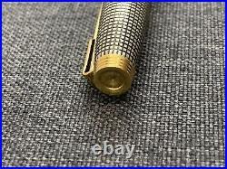 NEW VINTAGE PARKER 75 Sterling Silver Fountain Pen 18k Gold Nib Medium in Box