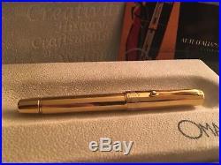NOS OMAS vermeil, gold over sterling silver, paragon Fountain pen 18K nib NEW