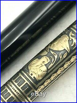 Nice Pelikan Toledo M700 Vermeil Sterling Silver Germany Fountain Pen 18c M Nib