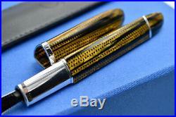 OMAS 360 Burkina Celluloid with 925 Sterling Silver Trim Fountain Pen 14k F Nib